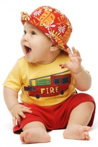 Baby in Summer Clothes