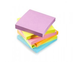 Sticky Notepaper --- Image by © Royalty-Free/Corbis