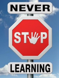 Never Stop Learning sign