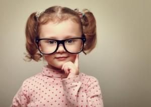 Girl with Black Frame Glasses