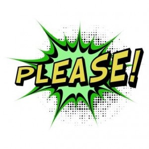 """Please"" comic book style"