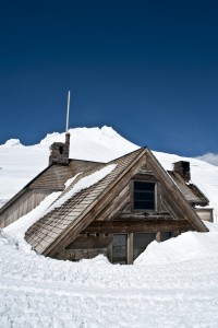 House buried deep in snow